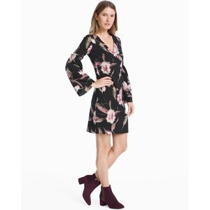 WHBM Floral Bell Sleeve Shift Dress